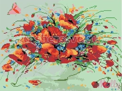 Картины своими руками Molly Картины со стразами Полевые маки 40х50 см картины в квартиру картина etude 2 102х130 см