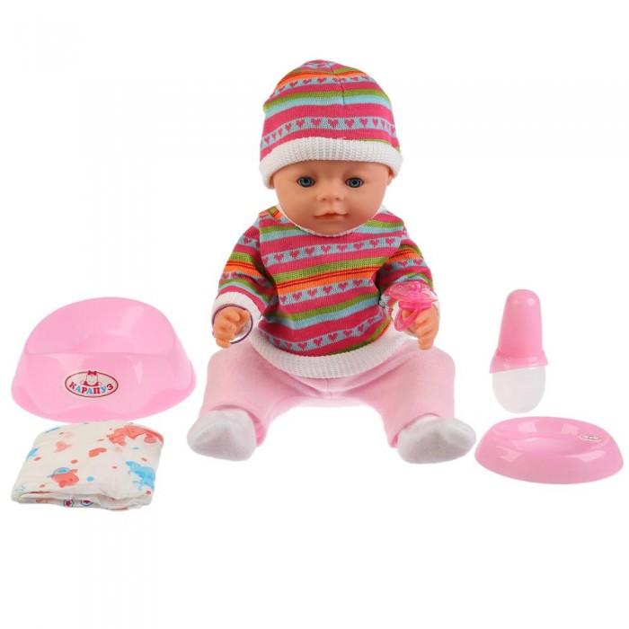 Картинка для Куклы и одежда для кукол Карапуз Развивающая интерактивная кукла Сашенька 40 см