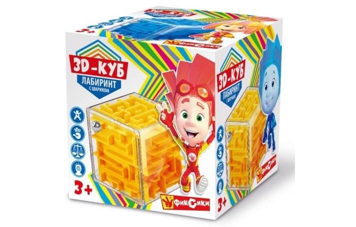 Картинка для Настольные игры Играем вместе Логическая игра Фиксики 3-D куб Лабиринт с шариком