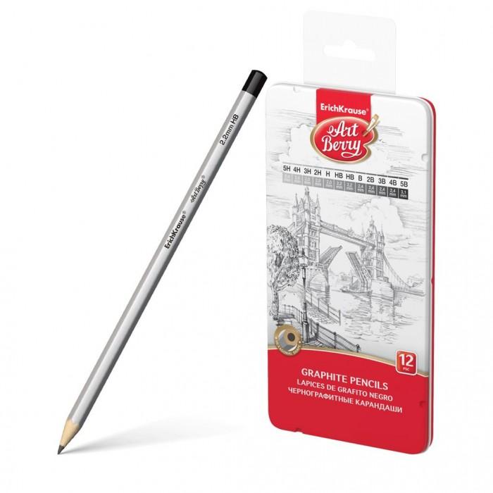 Карандаши, восковые мелки, пастель ArtBerry Чернографитные шестигранные карандаши 46157 12 шт.
