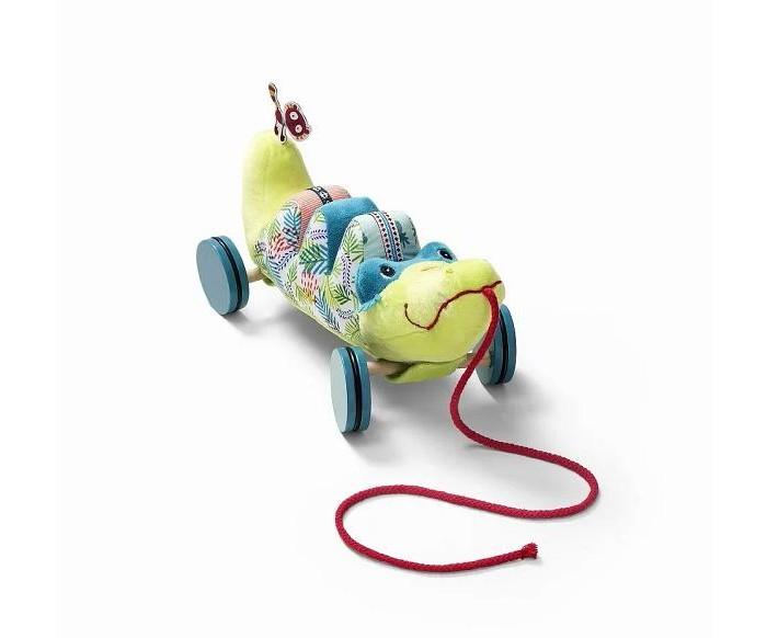 Купить Каталки-игрушки, Каталка-игрушка Lilliputiens на верёвочке Крокодил Анатоль