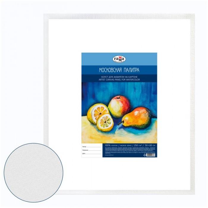 Купить Принадлежности для рисования, Гамма Холст для акварели на картоне Московская палитра мелкое зерно 50x60 см