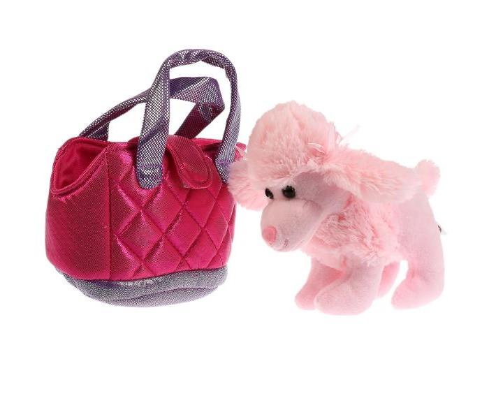 Купить Мягкие игрушки, Мягкая игрушка Мой питомец Собака в сумочке 15 см