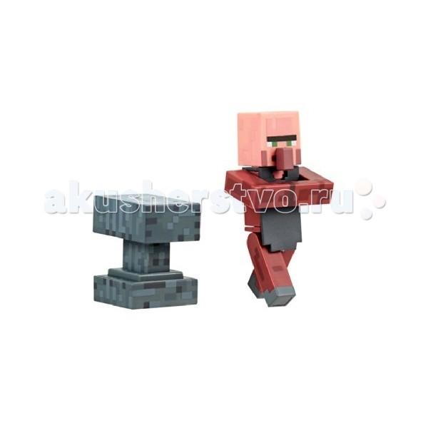 Игровые наборы Minecraft Игровой набор Деревенский житель Кузнец 2 предмета игровые наборы ecoiffier игровой набор вафельница 22 предмета