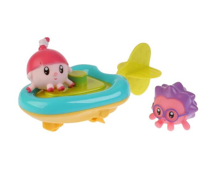 Купить Игрушки для ванны, Капитошка Игрушка для ванны пластизоль Малышарики Лодка Ежик и Нюшенька 4.5 см
