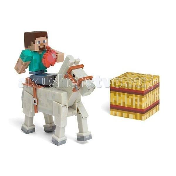 Minecraft Игровой набор Стив с лошадью 4 предметаИгровой набор Стив с лошадью 4 предметаMinecraft Игровой набор Стив с лошадью 4 предмета - станет прекрасным подарком для поклонника популярной инди-игры Minecraft. Голова, руки и ноги фигурок подвижны, что позволит придавать им различные позы.   В комплект входят: кубик, яблоко и лошадь. Ваш ребенок будет часами играть с этой фигуркой, придумывая различные истории. Порадуйте его таким замечательным подарком!  Игрок управляет персонажем, который может разрушать и устанавливать блоки, формируя фантастические структуры, здания и художественные работы в одиночку или коллективно с другими игроками в разных игровых режимах.<br>