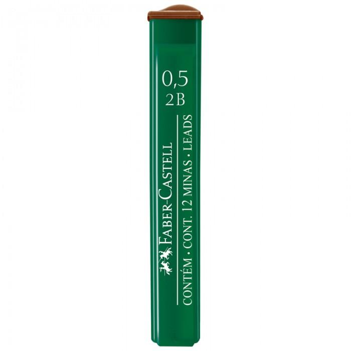 Канцелярия Faber-Castell Грифели для механических карандашей Polymer 0.5 мм 2B 12 шт.