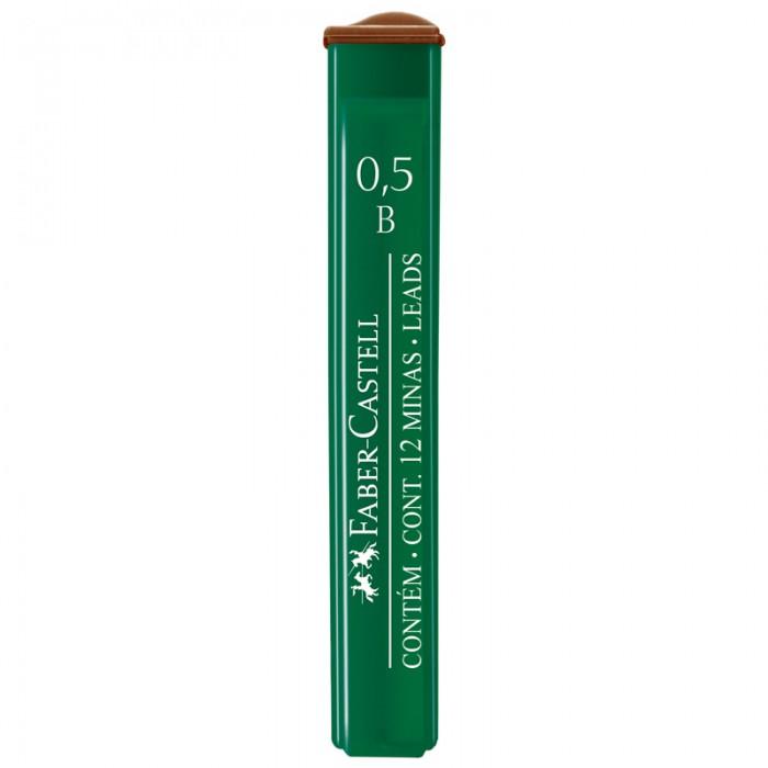 Канцелярия Faber-Castell Грифели для механических карандашей Polymer 0.5 мм B 12 шт. cross грифели для механических кассетных карандашей 0 5 мм 12 шт 1 ластик в кассете
