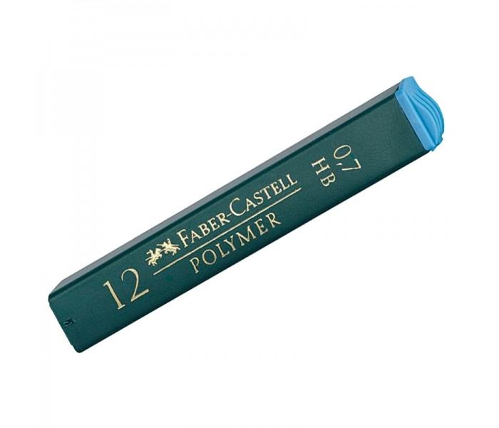 Канцелярия Faber-Castell Грифели для механических карандашей Polymer 0.7 мм HB 12 шт. cross грифели для механических кассетных карандашей 0 5 мм 12 шт 1 ластик в кассете