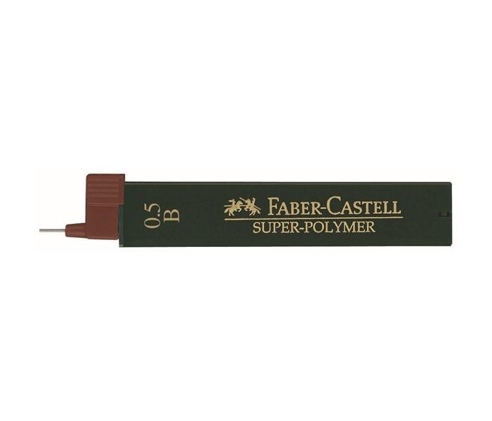 Канцелярия Faber-Castell Грифели для механических карандашей Super-Polymer 0.5 мм B 12 шт. cross грифели для механических кассетных карандашей 0 5 мм 12 шт 1 ластик в кассете