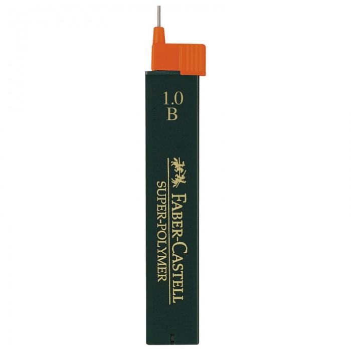 Канцелярия Faber-Castell Грифели для механических карандашей Super-Polymer 1 мм B 12 шт. cross грифели для механических кассетных карандашей 0 5 мм 12 шт 1 ластик в кассете