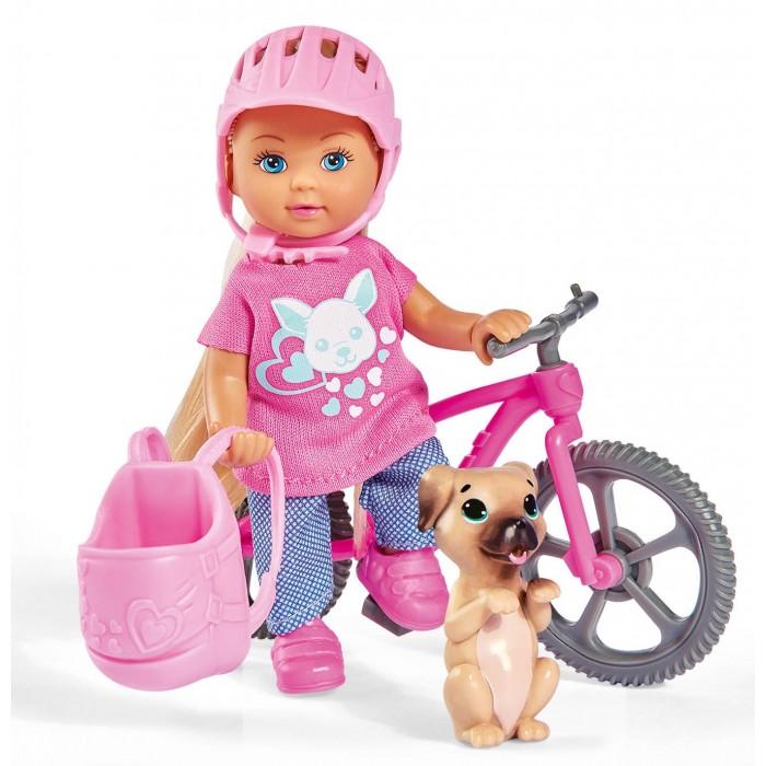 Купить Куклы и одежда для кукол, Simba Кукла Еви на велопрогулке с собачкой 12 см
