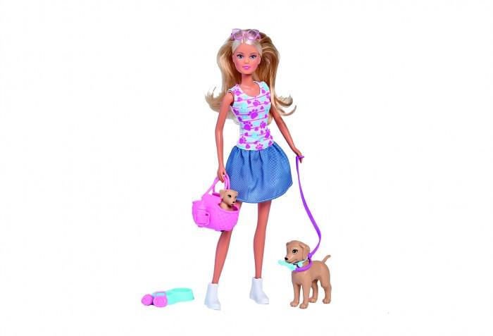 Картинка для Куклы и одежда для кукол Simba Кукла Штеффи Прогулка с питомцами 29 см