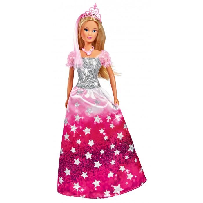 Куклы и одежда для кукол Simba Кукла Штеффи в блестящем платье и тиаре 29 см