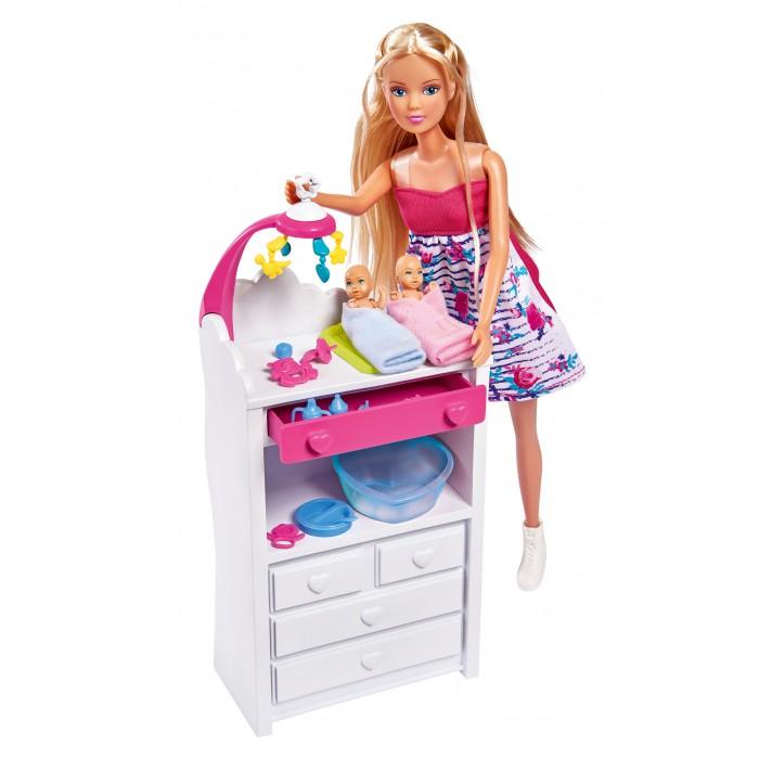 Картинка для Куклы и одежда для кукол Simba Кукла Штеффи беременная, набор Двойняшки с аксессуарами 29 см