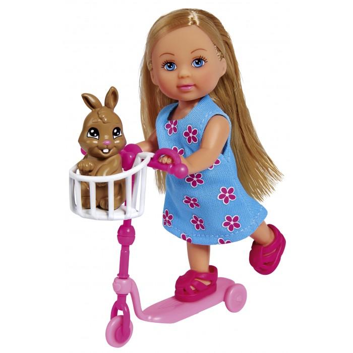 Картинка для Куклы и одежда для кукол Simba Кукла Еви на самокате с кроликом 12 см