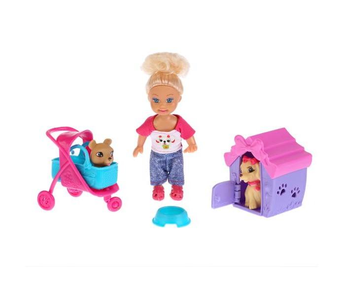 Купить Куклы и одежда для кукол, Карапуз Кукла Машенька с питомцами 12 см