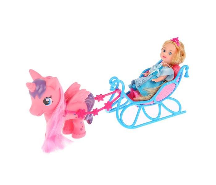 Купить Куклы и одежда для кукол, Карапуз Кукла Машенька в санях с пони 12 см