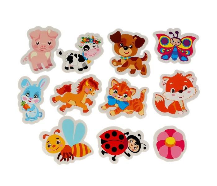 Игрушки для ванны Капитошка Игрушка для ванны Набор стикеров Веселые животные 12 шт. игрушки для ванны капитошка набор для купания морские животные