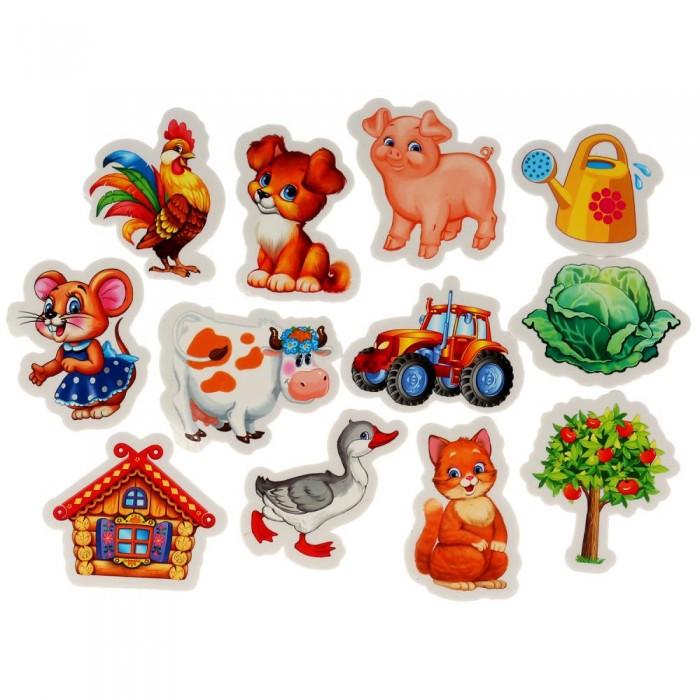 Игрушки для ванны Капитошка Игрушка для ванны Набор стикеров Домашние животные 12 шт. игрушки для ванны капитошка набор для купания морские животные