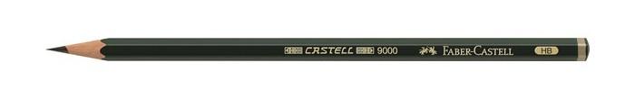 Фото - Карандаши, восковые мелки, пастель Faber-Castell Карандаш чернографитный Castell 9000 HB карандаш чернографитный castell 9000 jumbo 8в