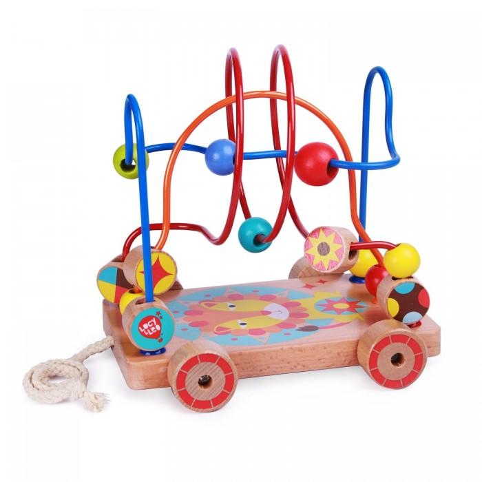 Купить Деревянные игрушки, Деревянная игрушка Lucy & Leo Лабиринт-каталка Лев