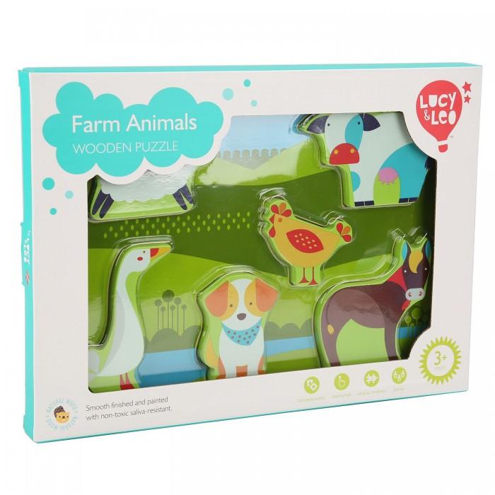 Купить Деревянные игрушки, Деревянная игрушка Lucy & Leo Рамка-вкладыш Ферма пазл
