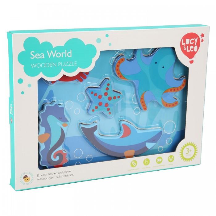 Купить Деревянные игрушки, Деревянная игрушка Lucy & Leo Рамка-вкладыш Морской мир