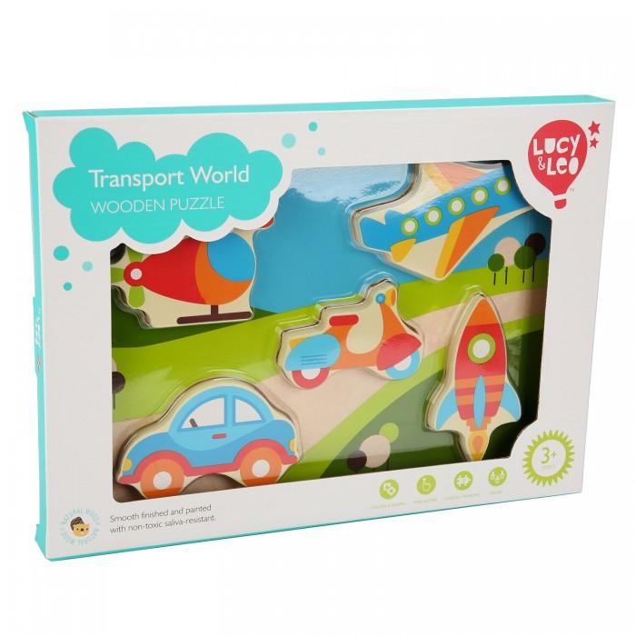 Купить Деревянные игрушки, Деревянная игрушка Lucy & Leo Рамка-вкладыш Мир транспорта