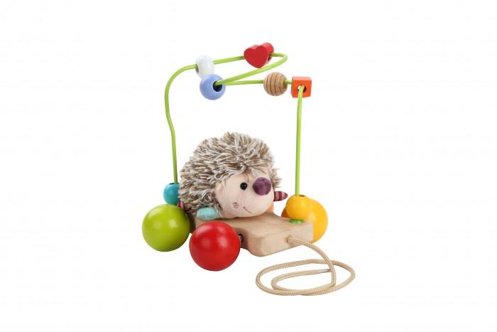 Купить Деревянные игрушки, Деревянная игрушка Lucy & Leo Каталка-лабиринт Еж