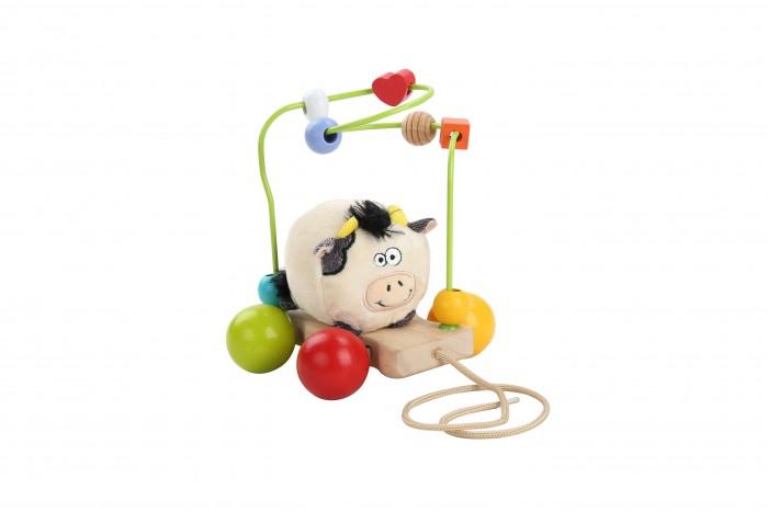 Деревянные игрушки Lucy & Leo Каталка-лабиринт Корова деревянные игрушки lucy leo каталка лабиринт корова