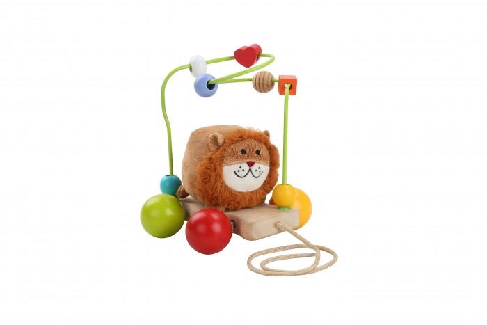 Деревянные игрушки Lucy & Leo Каталка-лабиринт Лев недорого