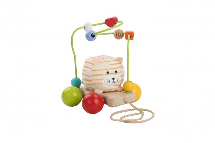 Купить Деревянные игрушки, Деревянная игрушка Lucy & Leo Каталка-лабиринт Кот