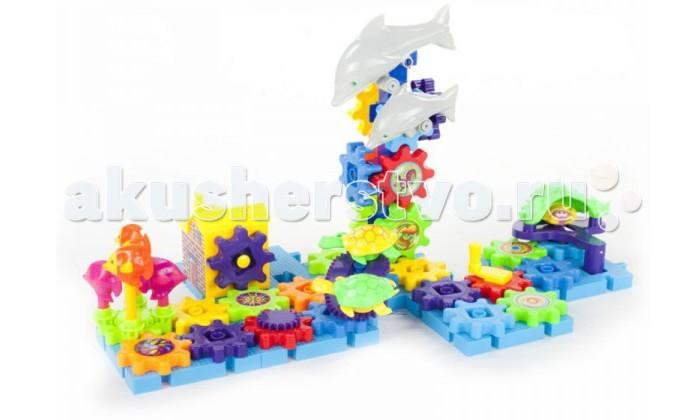 Конструктор S+S Toys Веселая планетаВеселая планетаКонструктор S+S Toys Веселая планета - хороший выбор для Вашего малыша. Конструктор представляет собой множество шестиренок, которые остаются подвижными после соединения.   Предусмотрено 2 варианта управления: ручной и автоматический. Если малыш повернет рычажок или нажмет на кнопку, то увидит, как оживает волшебный мир - все детали начинают двигаться и кружиться в такт музыки.   Такая игрушка на долго увлечет ребенка и он с интересом будет открывать для себя все новые и новые возможности.<br>