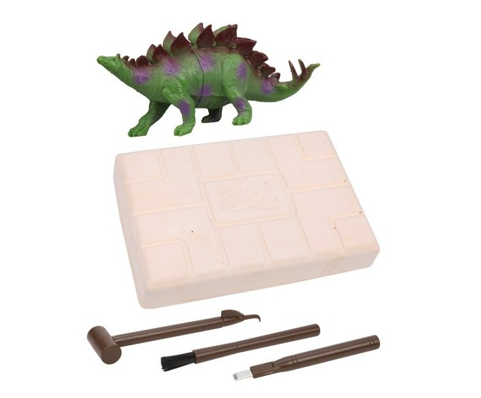 Купить Наборы для опытов и экспериментов, On Time Набор раскопок Стегозавр с игрушкой