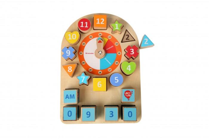 Купить Деревянные игрушки, Деревянная игрушка Lucy & Leo Бизиборд Часы