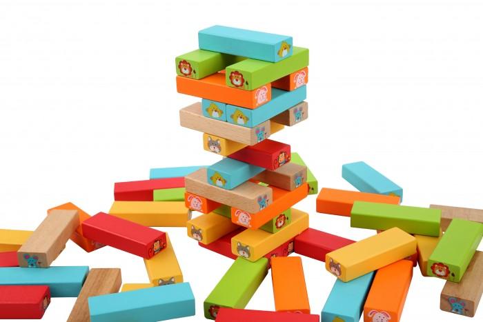 Картинка для Деревянные игрушки Lucy & Leo Падающая башня Угадай кто?