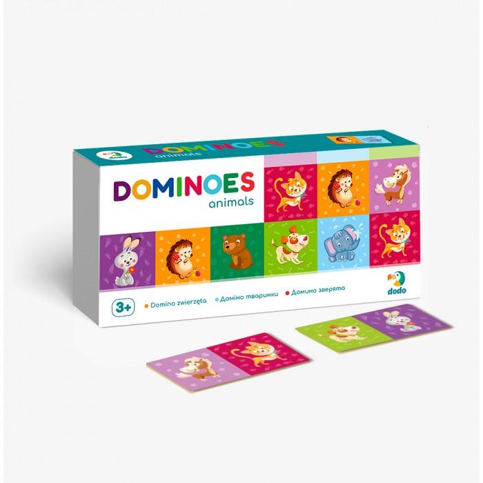 Фото - Настольные игры Dodo Настольная игра Домино детское Зверята настольные игры dodo настольная карточная игра болтун