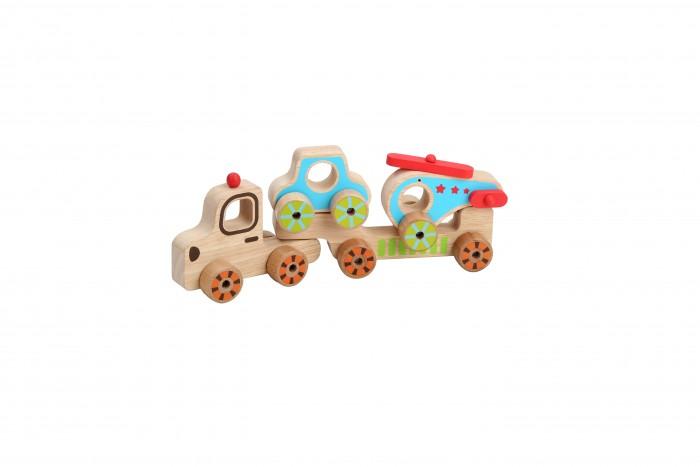 Деревянные игрушки Lucy Leo Паровозик-набор Мой первый транспорт деревянные игрушки lucy leo магический треугольник