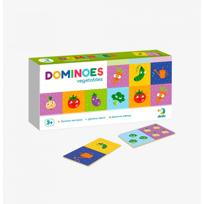 Фото - Настольные игры Dodo Настольная игра Домино детское Овощи настольные игры dodo настольная карточная игра болтун