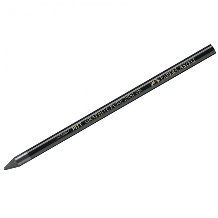 Карандаши, восковые мелки, пастель Faber-Castell Карандаш чернографитный Pitt Graphite Pure 6B