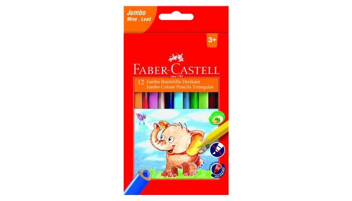 Фото - Карандаши, восковые мелки, пастель Faber-Castell Карандаши цветные Jumbo 12 шт. карандаши восковые мелки пастель kores карандаши цветные шестигранные с точилкой 12 цветов