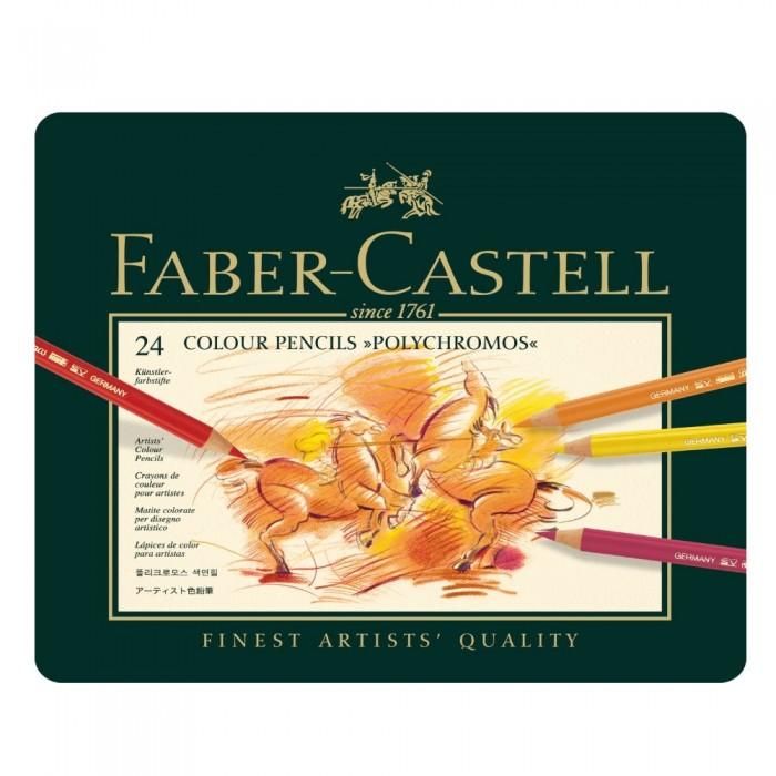 Купить Карандаши, восковые мелки, пастель, Faber-Castell Карандаши цветные художественные Polychromos 24 шт.