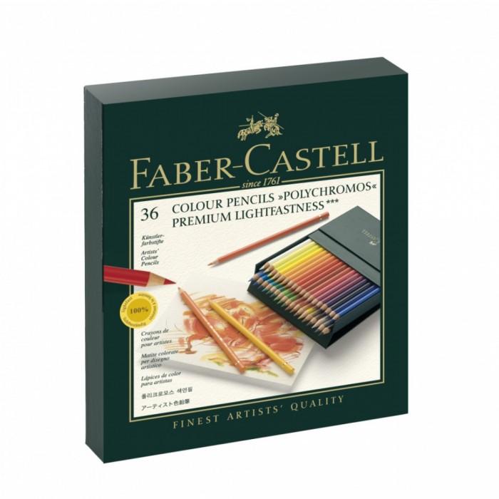 Карандаши, восковые мелки, пастель Faber-Castell Карандаши цветные художественные Polychromos 36 шт.