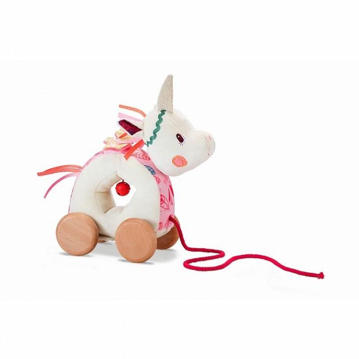 каталки игрушки janod на веревочке ксилофон sweet cocoon Каталки-игрушки Lilliputiens на веревочке мягкая Единорожка Луиза