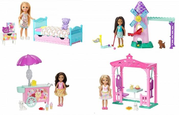 Купить Куклы и одежда для кукол, Barbie Кукла Челси с набором мебели