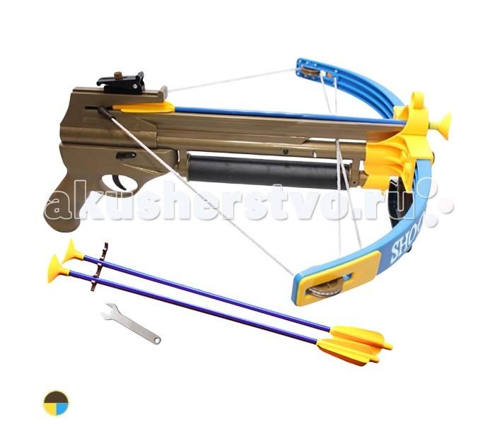 S+S Toys Арбалет со световыми эффектамиАрбалет со световыми эффектамиS+S Toys Арбалет со световыми эффектами - выполнен в форме однозарядного метательного оружия. Стрелы на присоске изготовлены из пластика, что делает их безопасными для стрелка и окружающих.  Игрушка тренирует меткость, совершенствует глазомер и развивает воображение юных стрелков.   В наборе: лук, 3 стрелы, инструменты.<br>