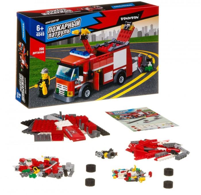 Картинка для Конструкторы Bondibon Пожарная служба Пожарная машина (206 деталей)