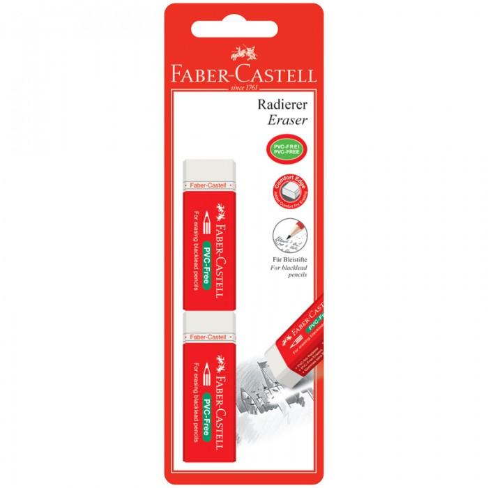Канцелярия Faber-Castell Набор ластиков PVC-Free и футляр 2 шт.