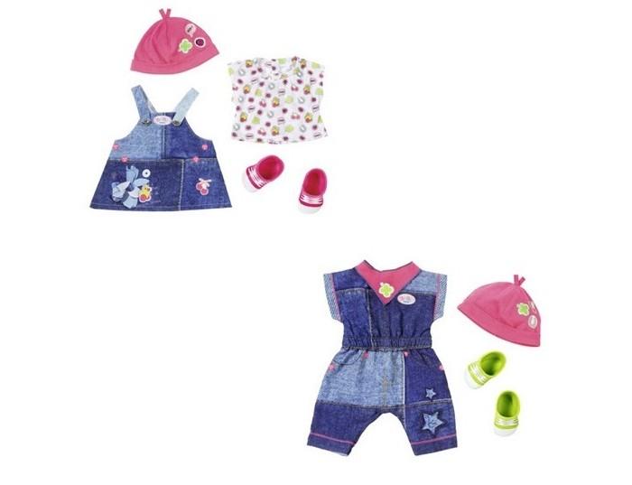 Куклы и одежда для кукол Zapf Creation Комплект одежды Джинсовая коллекция для куклы Baby born 43 см